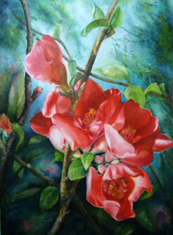 Flowers Watercolor Painting Renee Marks