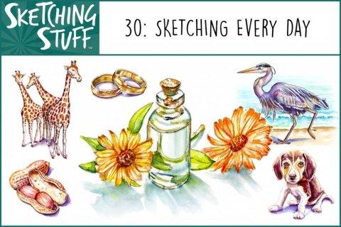 Sketching Stuff Podcast Episode 30 Album Art