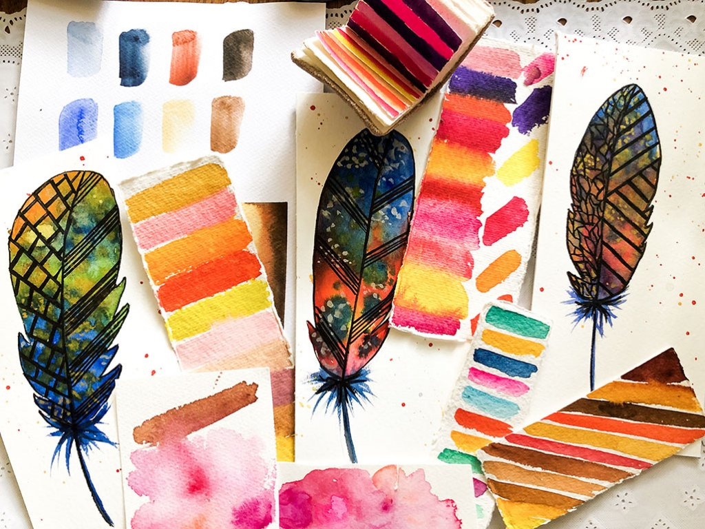Watercolor color swatches by Kratika Agarwal