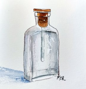 9/29/19 Bottle This little bottle was, at one time, filled with an antiseptic called Mercurochrome (