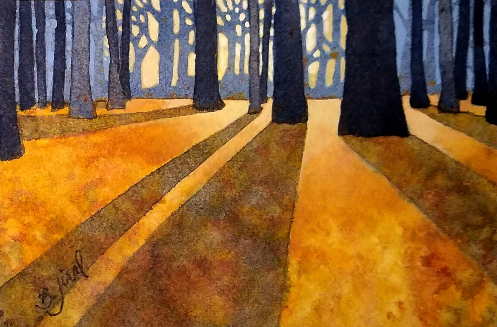 """A New Day Dawns"""" Watercolor & Gouache A New Day Dawns"""
