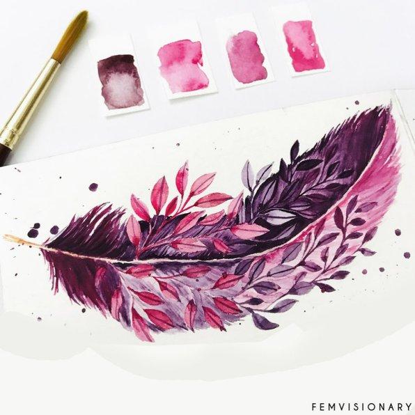 Femvisionary Madhu Sankar Pink Feather