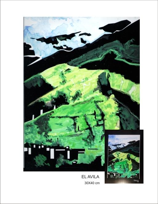 Acuarelas realizadas exclusivamente en colores verdes y negro. Foto1Foto2Foto3Foto4Foto5Foto6Foto7
