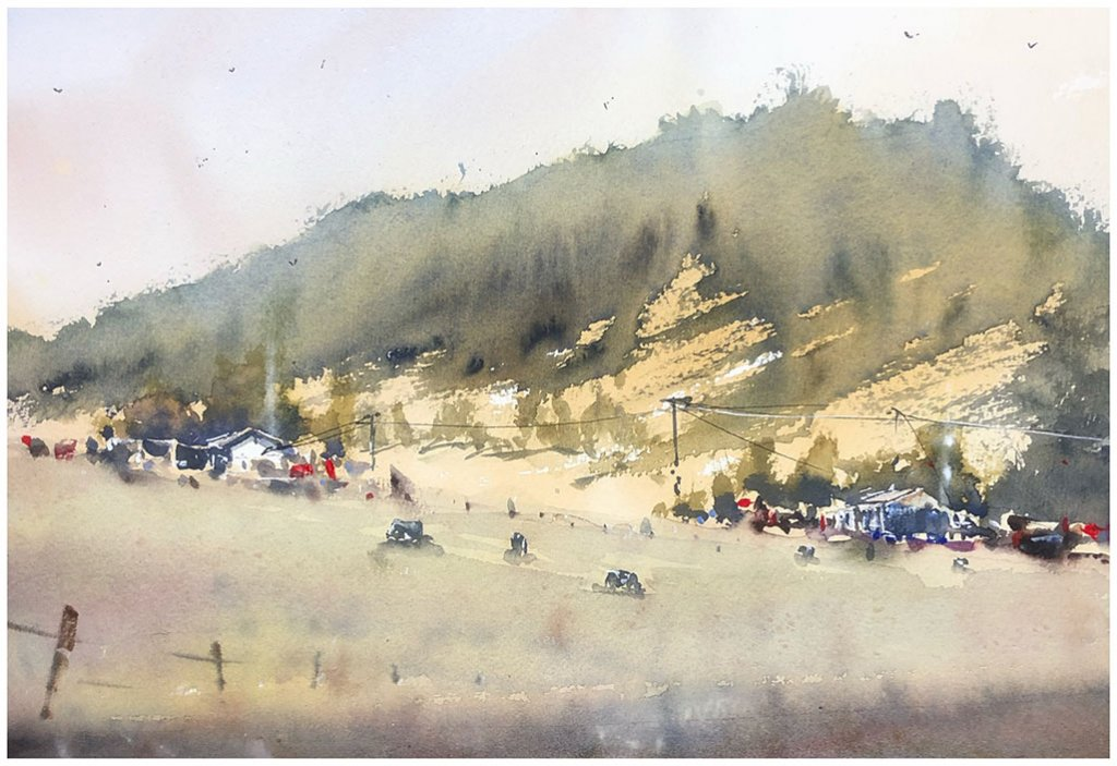 Landscape Watercolour Painting by Tony White