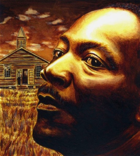 Martin Luther King Portrait In Oil by Alaiyo Bradshaw