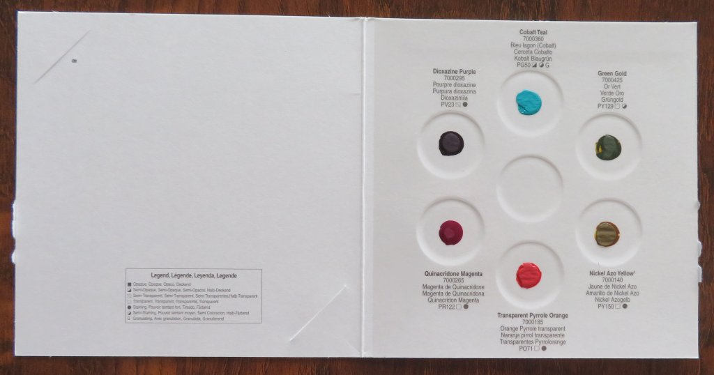 QoR Watercolors Dot Sample Card From Wet Paint