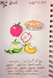 Fruit Doodle: apples fruit rvsdrszd