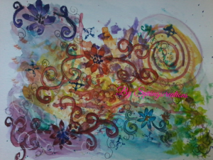 today is a thinking outside of the prompt. This was created from a intentional creativity art proces
