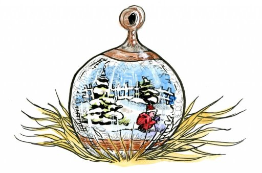 Glass Ornament for Inktober – seems a bit like Christmas in October! #Inktober2019 #Doodlewash