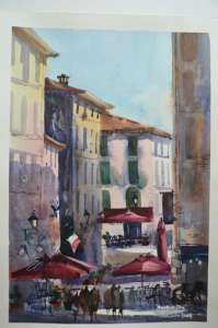 This is Another Day, painted en plein air In Italy. Next workshop is May 2020 http://www.amandabrett