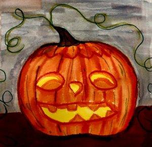doodlwashOctober2019 #doodlewashOctober2019AutumnFun Day 31: Pumpkin BDF32404-D4B1-453C-9F6B-A7165E2