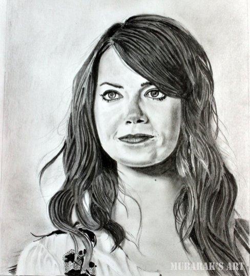 Emma Stone Drawing