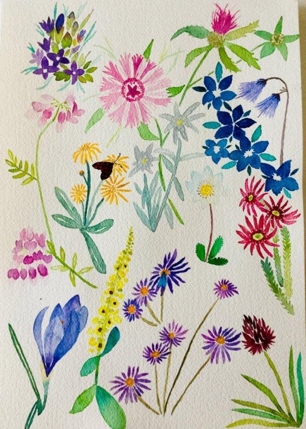 Flower Pattern by Deborah Ann Waugh