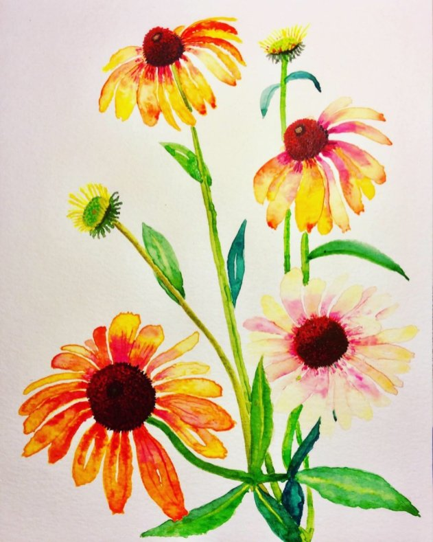 Flowers Watercolour Painting