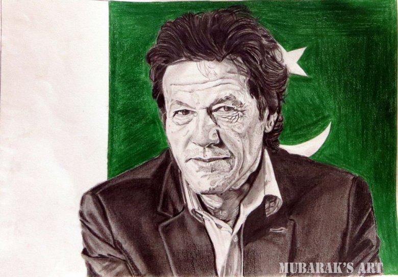 Imran khan Drawing Pakistan Prime Minister