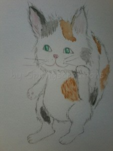 Today I do not just share my art but a piece of my heart. Some time ago my Beloved Patch crossed the