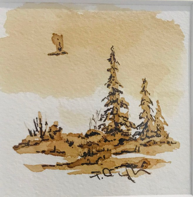 Painting With Coffee As Medium Example 1