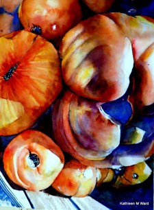 Produce Watercolor Painting Kathleen M Ward