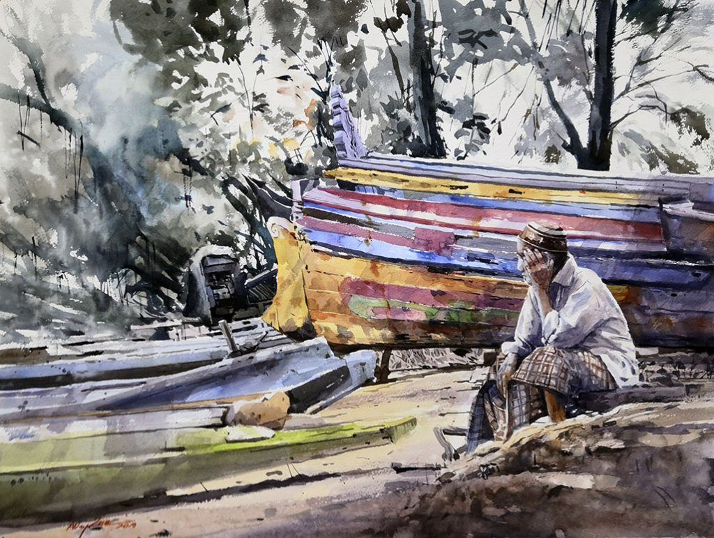 WAITING FOR BETTER SEASON Watercolour Abey Zoul
