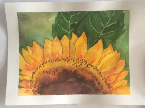 This was done following Angela Fehr's tutorial on Youtube sunflower