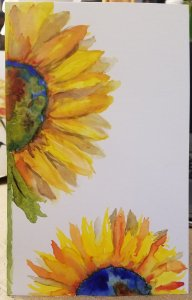 Watercolor. I used the original as a greeting card front. 20180818_100057