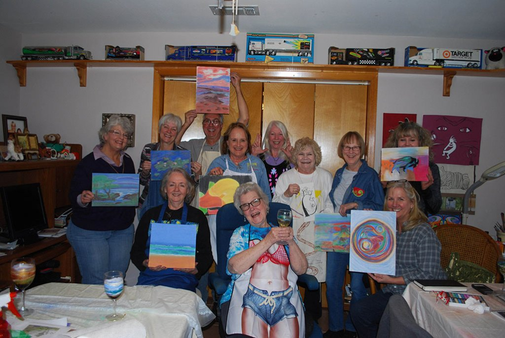 4 Shirley E Bland Painting Class