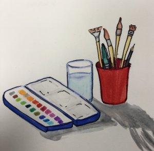 #doodlwashNovember2019 #doodlewashNovember2019FunThingstoDraw Day 5: Art Supplies 441DF56C-2DF0-4E1F