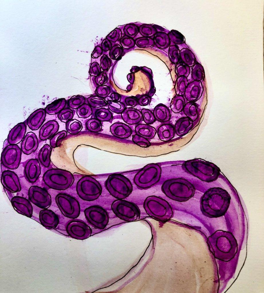 doodlwashNovember2019 #doodlewashNovember2019FunThingstoDraw Day 10: Octopus 960AEAB6-5858-49DB-95AD