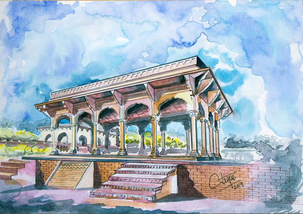 Architecture Watercolor Painting