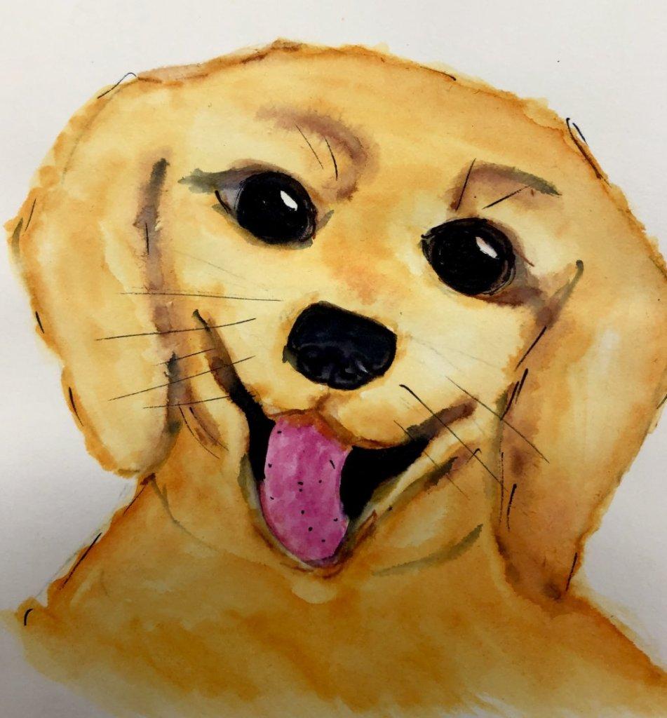 #doodlwashNovember2019 #doodlewashNovember2019FunThingstoDraw Days 1: Puppy CE2F2505-9C05-4501-BBA0-