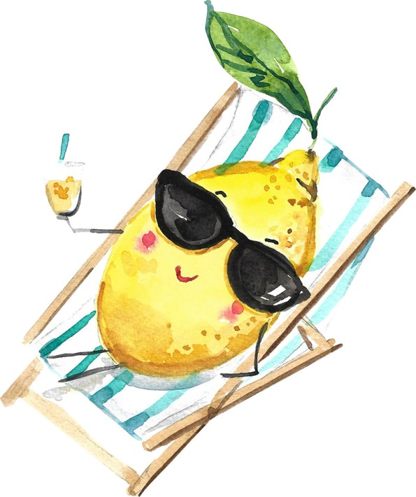Lemon watercolor by Anna Koliadych DearAnnArt
