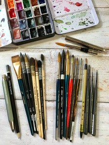 Most used watercolor brushes