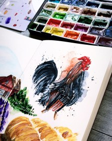 Rooster Cock Painting