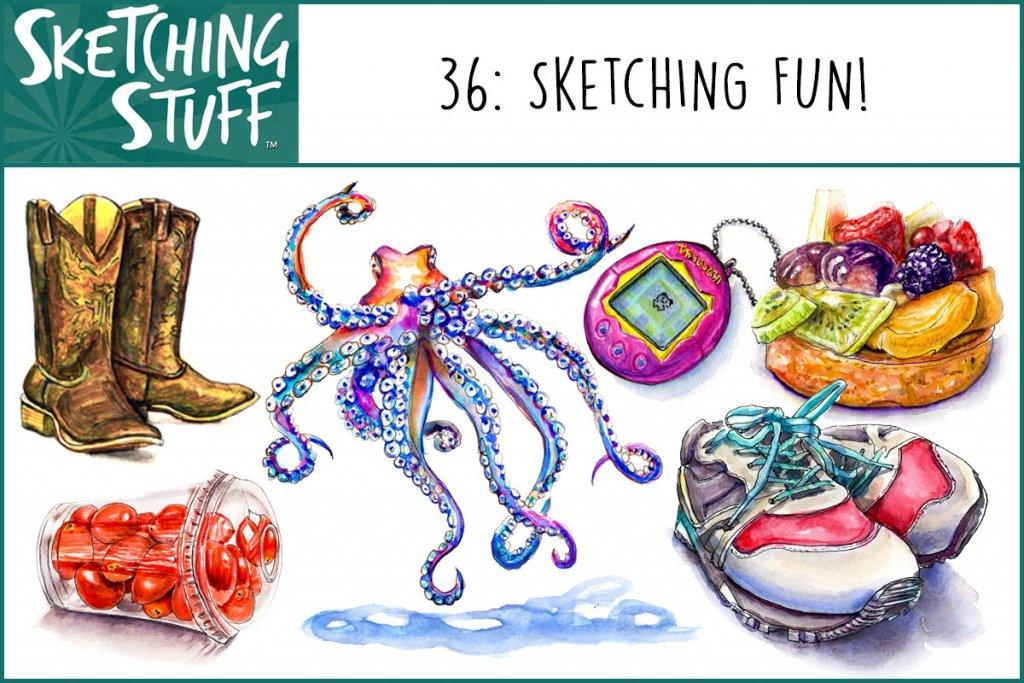 Sketching Stuff Episode 36 Album Art