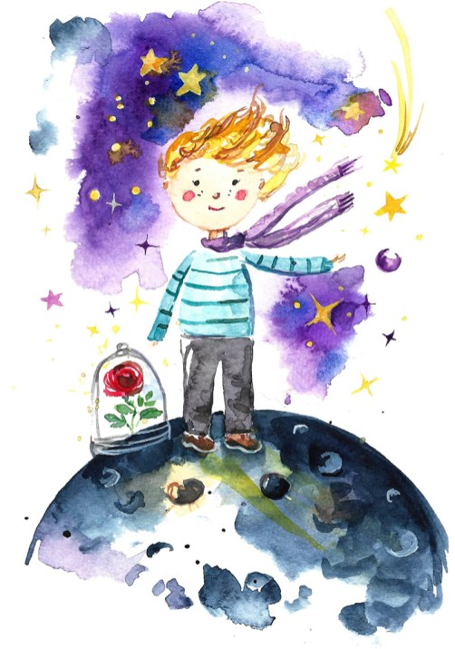 TheLittlePrince Watercolor Illustration Anna Koliadych