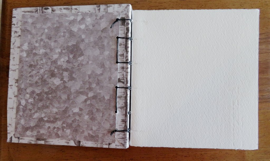 Interior handmade sketchbook pages