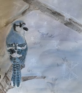Blue jay feathers are so gorgeous, I hope I did them justice. #doodlewashDecember2019 #doodlewash #W