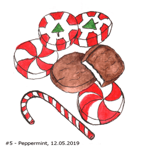 This is my second attempt for today's #Peppermint prompt. I drew then 'inked' my f