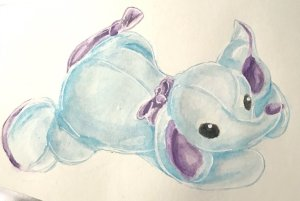 This is Squirt, an old beanie baby I've held onto for years. #doodlewashDecember2019 #doodlewash #