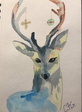 I combined my day 21 and day 22 Ornament and Reindeer Day 23– One large bow FFA48CEF-F91D-4FF5-BFA