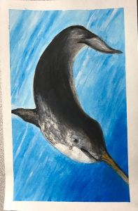 Dec. 20 gouache (day 16 Narwhal) Day20_16Narwhal_gouache