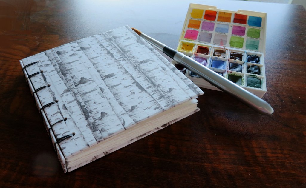 Handmade Watercolor Sketchbook by Mary Roff