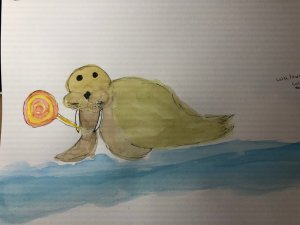 a walrus with a lollipop 🙂 IMG_4009