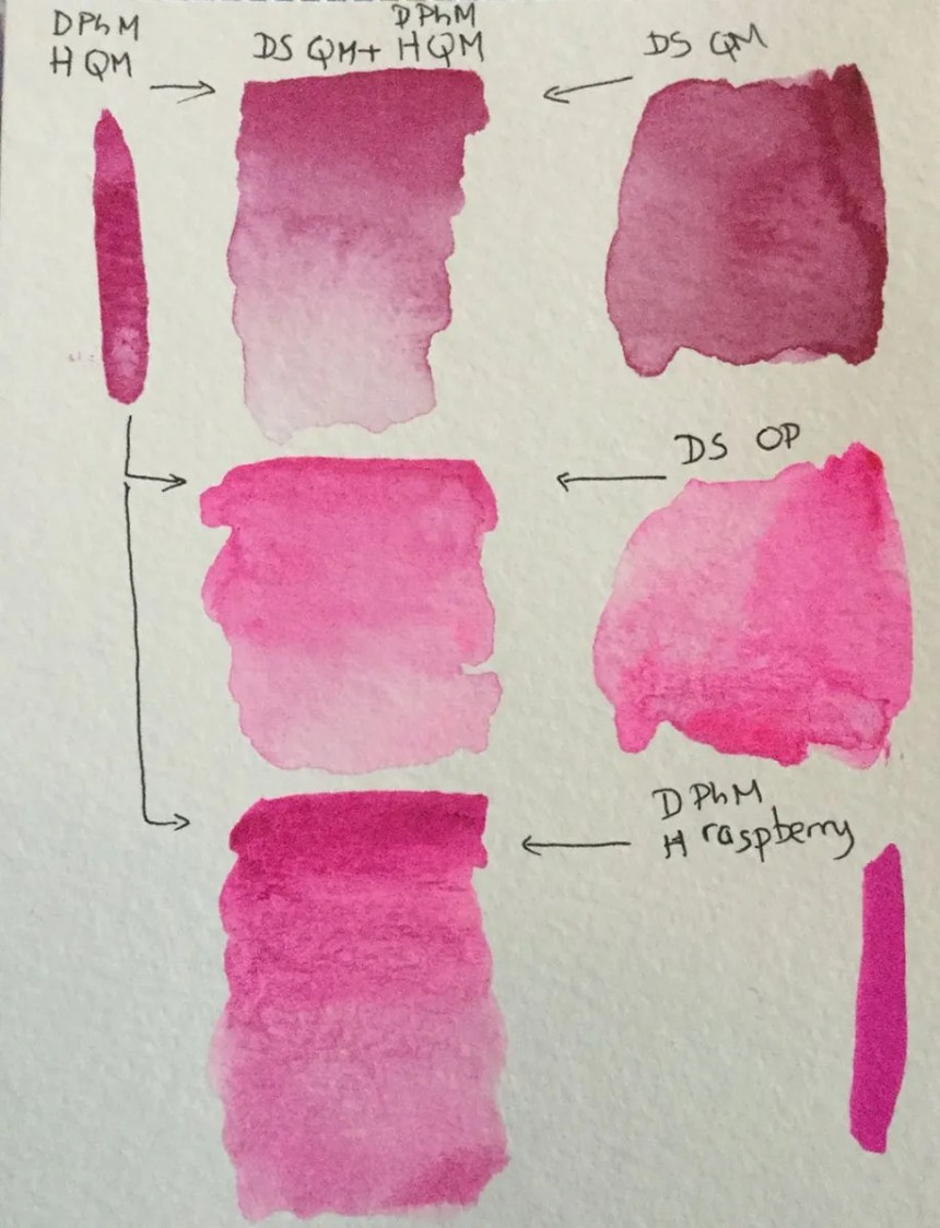 Liquid Watercolors Swatch Test Dr Ph Martin