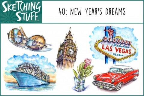 Sketching Stuff Episode 40 Album Art New Year's Dreams