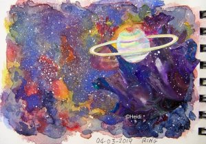 This one fits todays prompt, but I made it a while ago. Galaxy… 04 sketch ring doodlewash enh