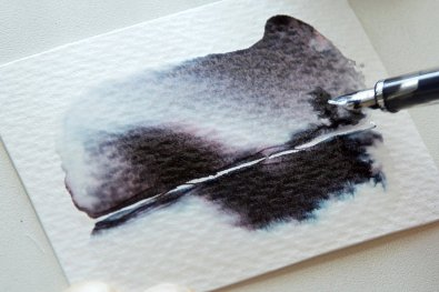 Fountain Pen Ink As Watercolor Wash Tutorial Image 10