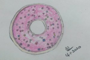 January Art Challenge : Day 14 – Donut #doodlewashJanuary2020 1579004911656-9fdad41f-e3cb-4e6f