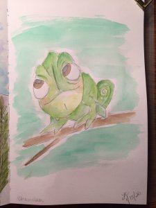 Not a fan of real reptiles, so I had to go down the Disney path. Pascal from Tangled. 68842D16-2275-