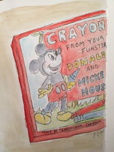 I chose to sketch my vintage crayon box….part of it. 🙂 7BE36384-8F3B-41CD-8A91-AB3F9A4